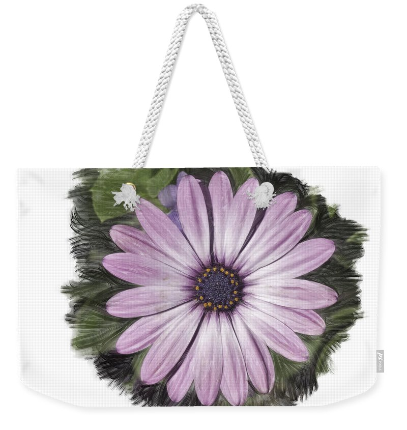 Flower Weekender Tote Bag featuring the photograph Flower Paint by James Ekstrom