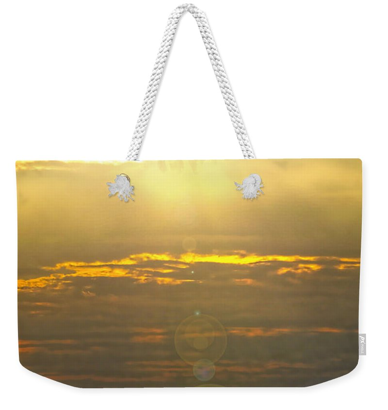 flower Sun Weekender Tote Bag featuring the photograph Flower Sun by David Arment