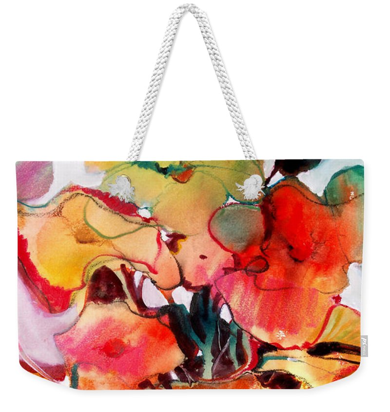 Flowers Weekender Tote Bag featuring the painting Flower Vase No. 2 by Michelle Abrams