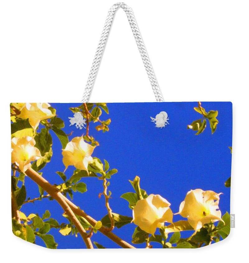 Landscapes Weekender Tote Bag featuring the painting Flowering Tree 1 by Amy Vangsgard