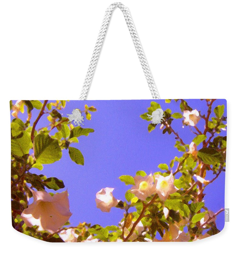Landscapes Weekender Tote Bag featuring the painting Flowering Tree 2 by Amy Vangsgard