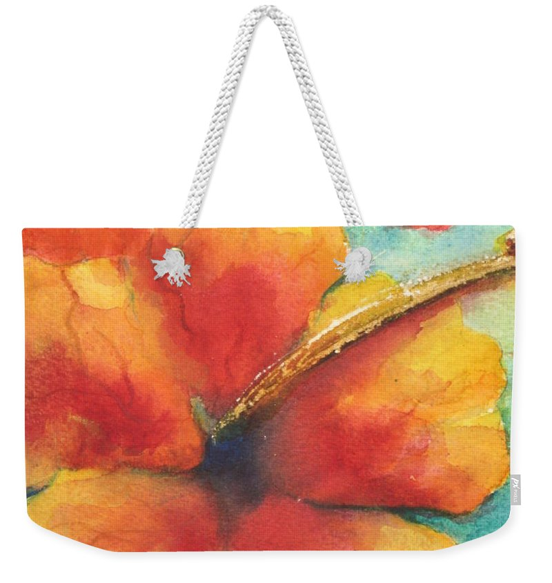 Fine Art Painting Weekender Tote Bag featuring the painting Flowers In Bloom by Chrisann Ellis