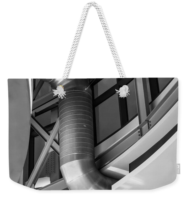 2008 Weekender Tote Bag featuring the photograph Flowing Duct by Melinda Ledsome