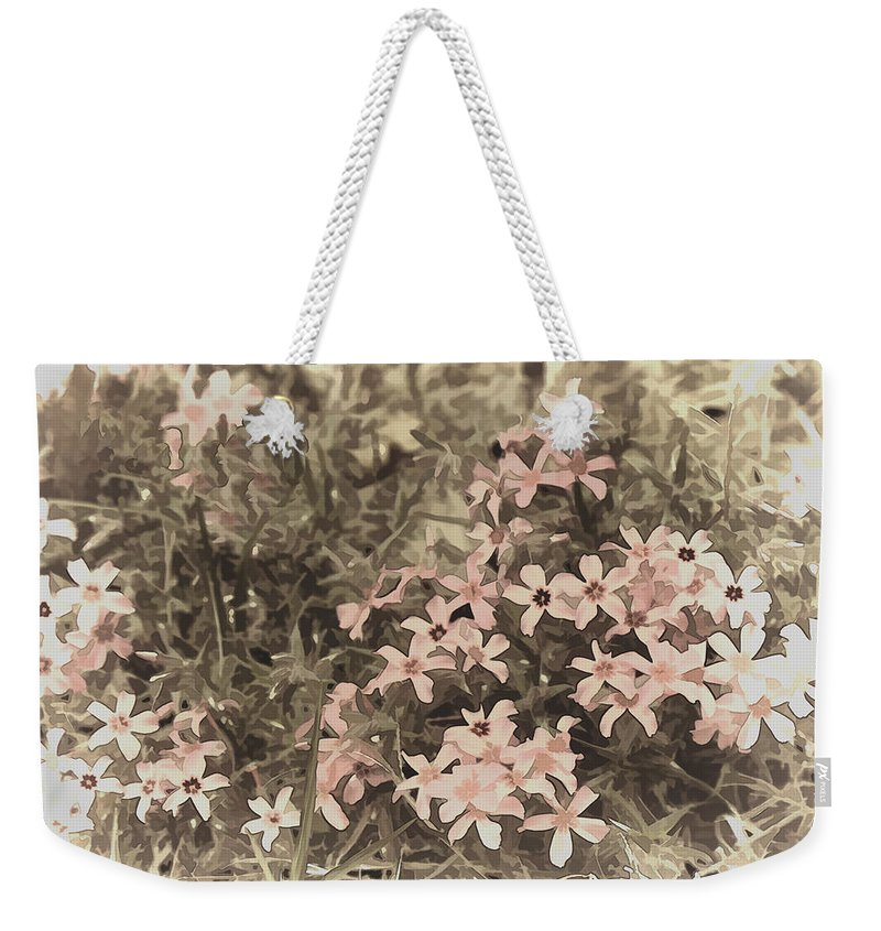 Flox Weekender Tote Bag featuring the photograph Flox by Bonnie Willis