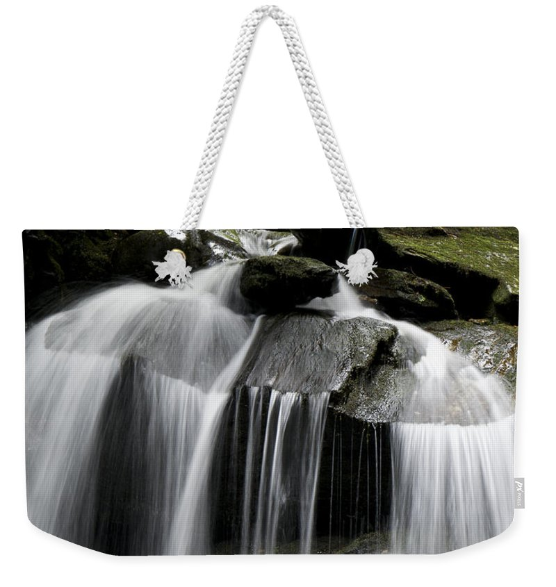 Waterfall Weekender Tote Bag featuring the photograph Fluke Fall by Gary Eason