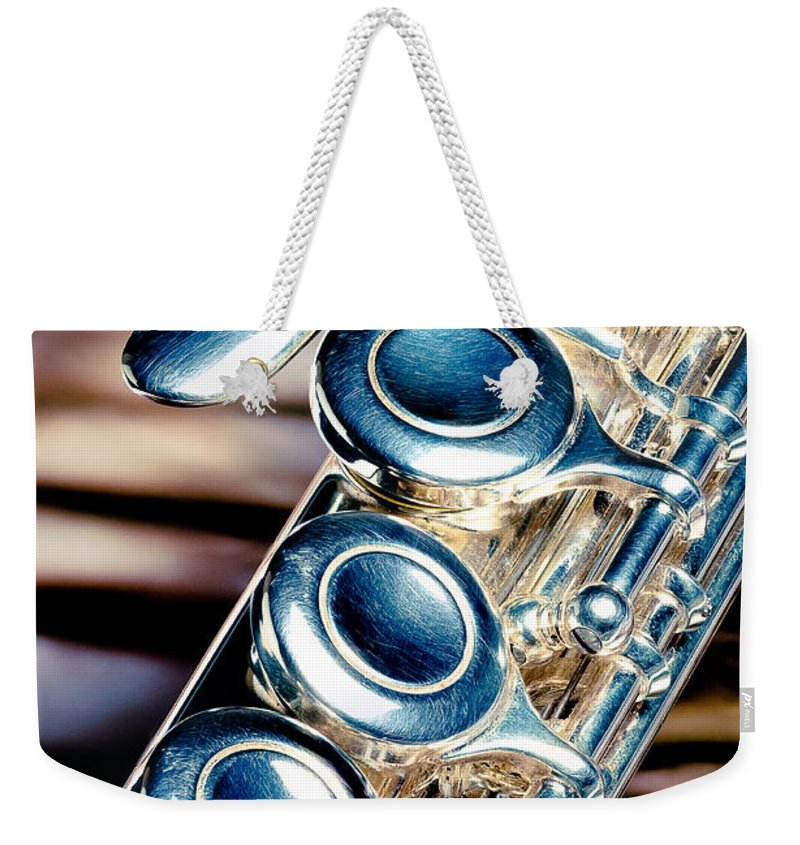 Alto Flute Weekender Tote Bag featuring the photograph Flute by Joe Mamer
