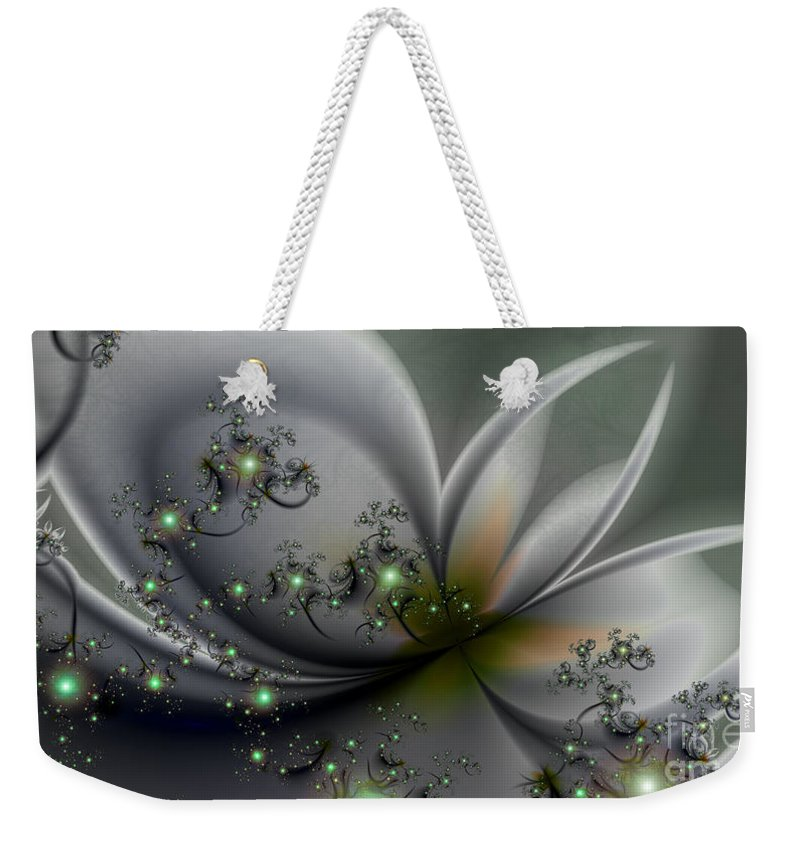 Flutterby Weekender Tote Bag featuring the digital art Flutterby by Kimberly Hansen