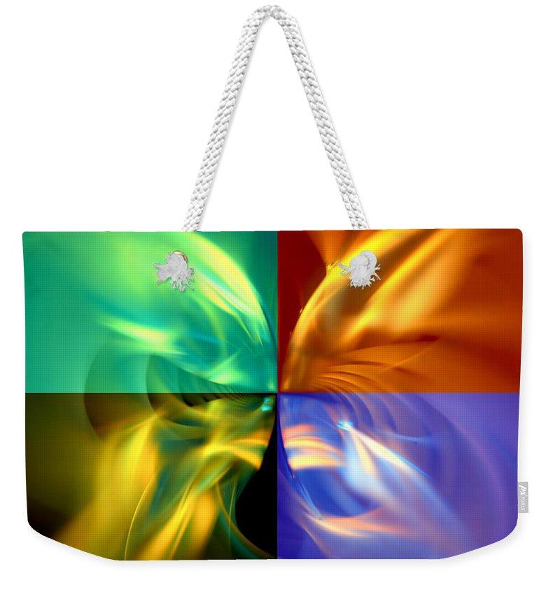 Wings Weekender Tote Bag featuring the digital art Fly Away by Adam Vance