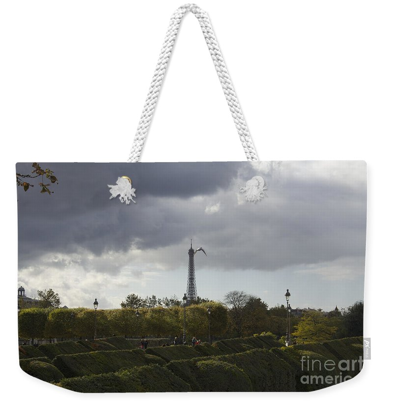 Tuileries Garden Weekender Tote Bag featuring the photograph Flying Over The Tuileries by Donato Iannuzzi