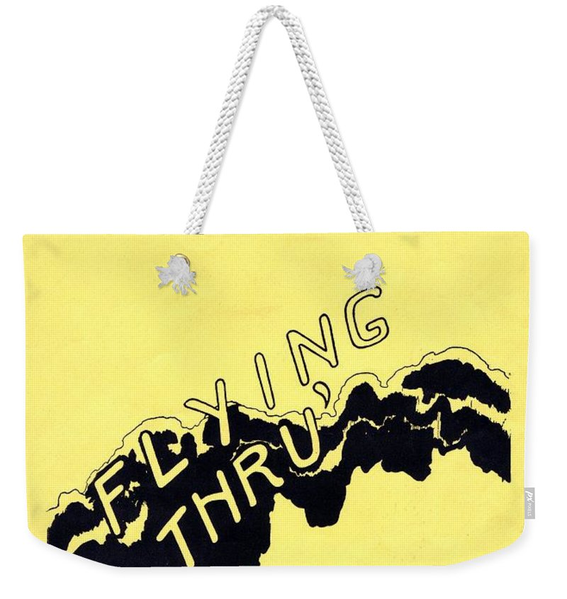 Nostalgia Weekender Tote Bag featuring the photograph Flying Thru by Mel Thompson