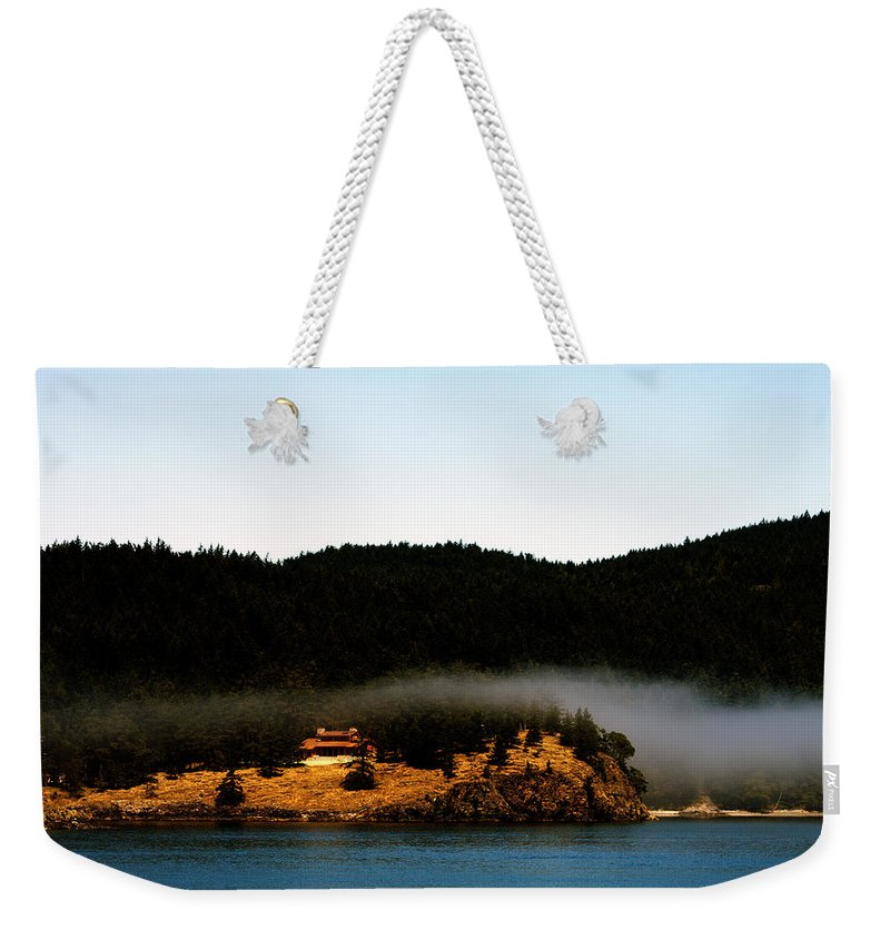 Fog Weekender Tote Bag featuring the photograph Fog Rolling By by Edward Hawkins II