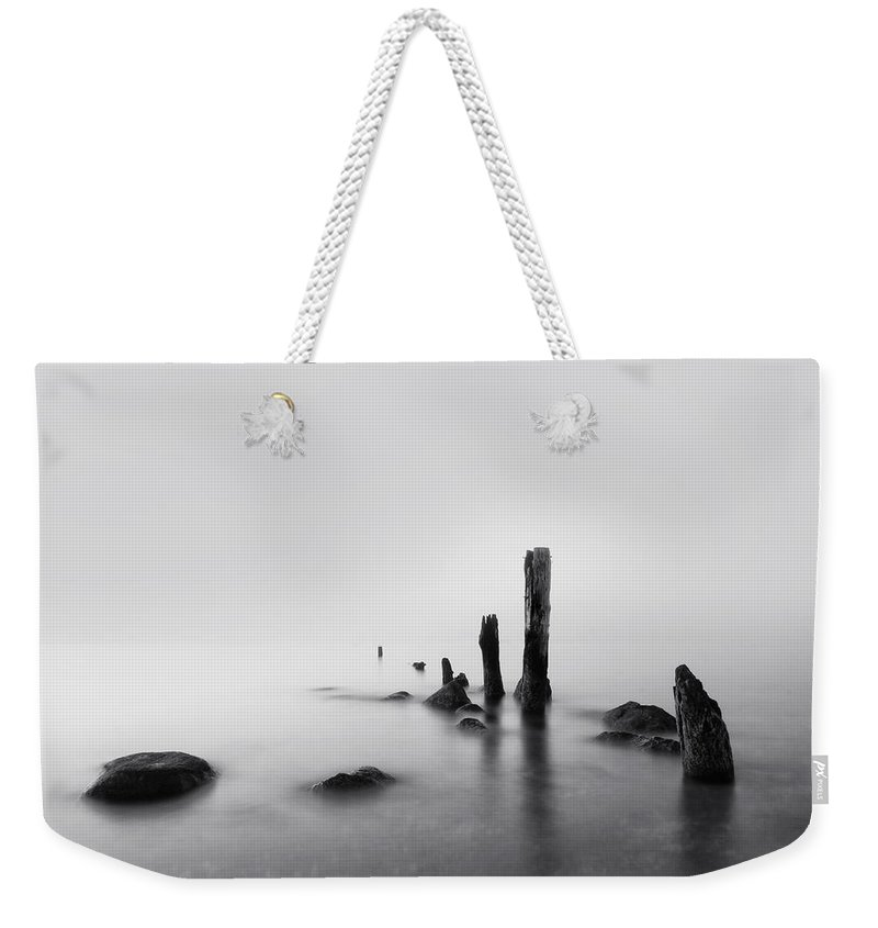 Beach Weekender Tote Bag featuring the photograph Foggy New England Sea by Stephanie McDowell