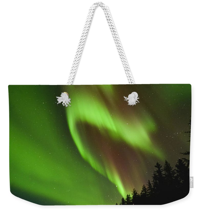 Aurora Weekender Tote Bag featuring the photograph Fold In Space by Ted Raynor