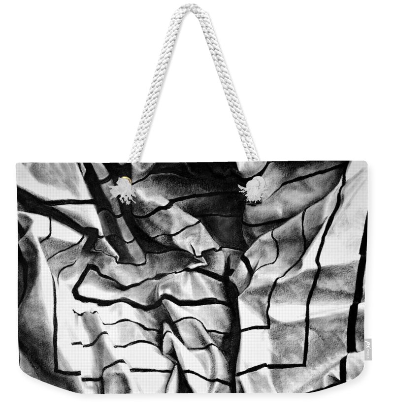 All Weekender Tote Bag featuring the pastel Folding Structure I by Iliyan Bozhanov