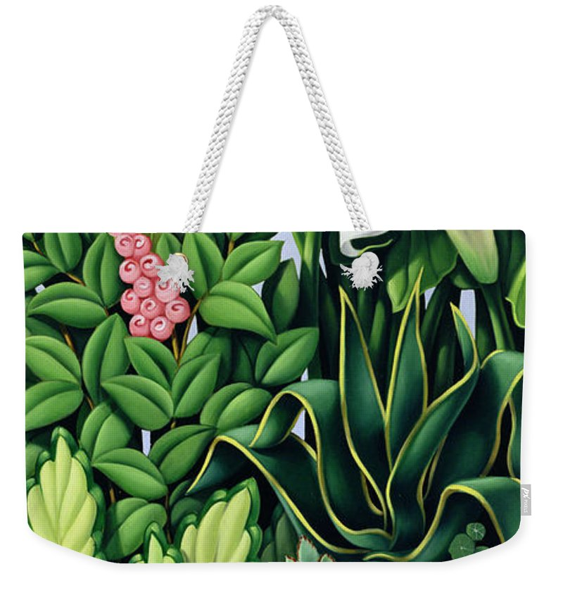 Foliage Weekender Tote Bag featuring the painting Foliage by Catherine Abel