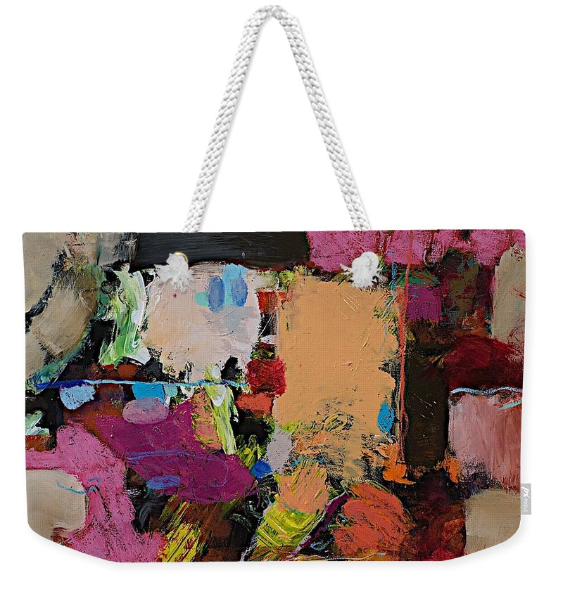 Landscape Weekender Tote Bag featuring the painting Follies by Allan P Friedlander