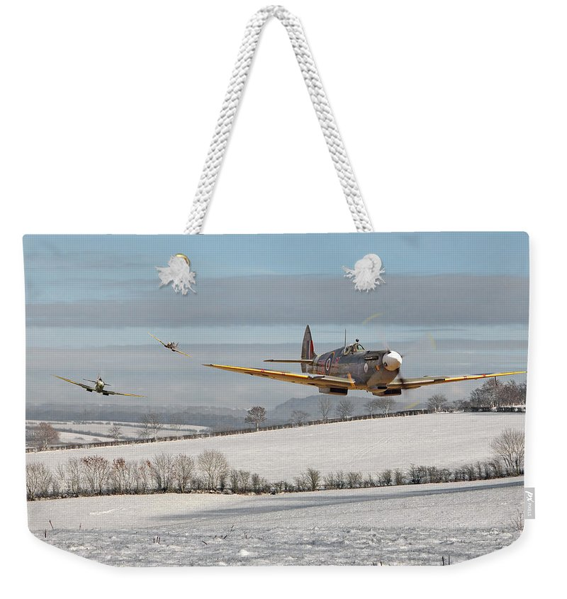 Aircraft Weekender Tote Bag featuring the digital art Follow My Leader by Pat Speirs