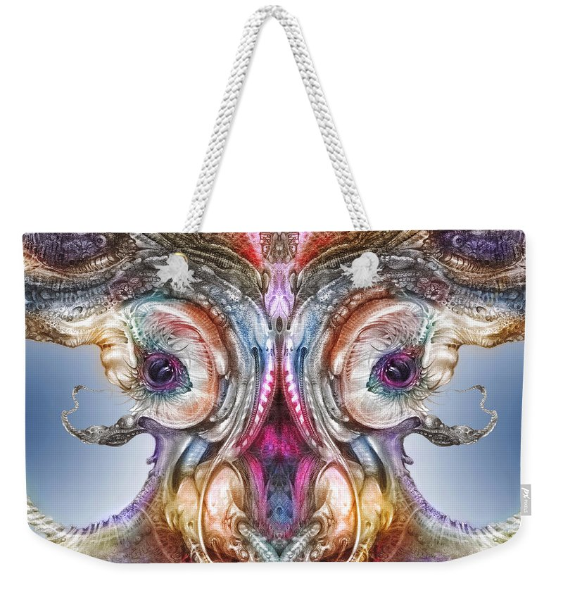 Otto Rapp Weekender Tote Bag featuring the digital art Fomorii Incubator Remix by Otto Rapp