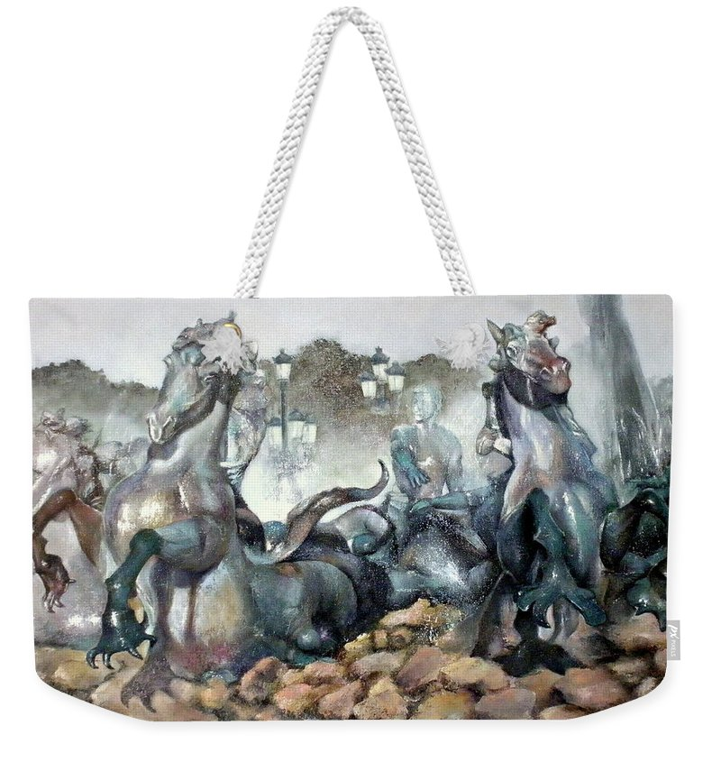 Font Weekender Tote Bag featuring the painting Font Girondins by Tomas Castano