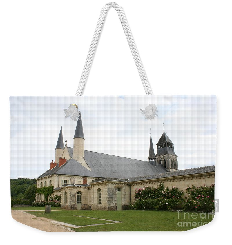 Cloister Weekender Tote Bag featuring the photograph Fontevraud Abbey - France by Christiane Schulze Art And Photography