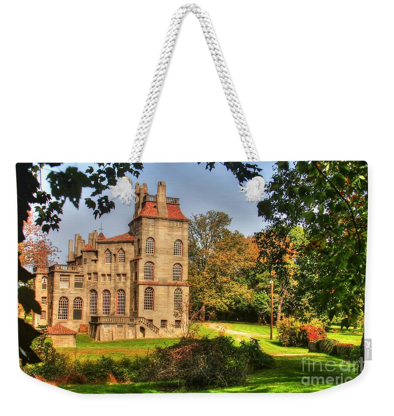 Fonthill Weekender Tote Bag featuring the photograph Fonthill Castle by Traci Law