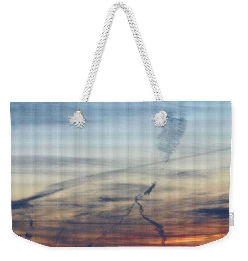 Cloud Weekender Tote Bag featuring the photograph Foot In The Sky by Cynthia Guinn