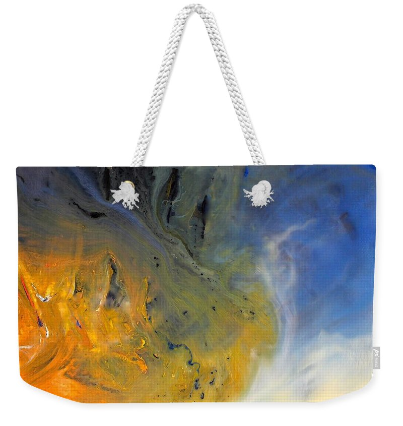 For A Change Weekender Tote Bag featuring the mixed media For A Change by Kume Bryant