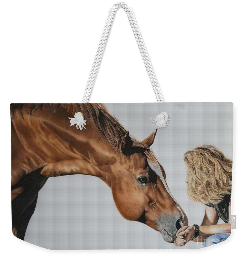 Girl And Horse Weekender Tote Bags