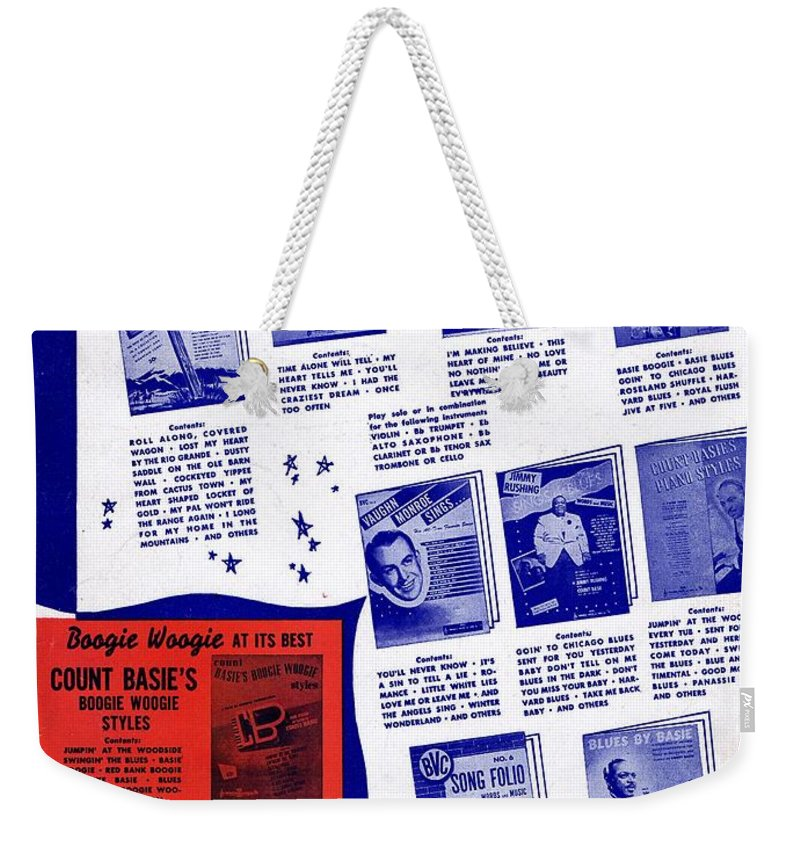 Nostalgia Weekender Tote Bag featuring the photograph For Better Entertainment by Mel Thompson