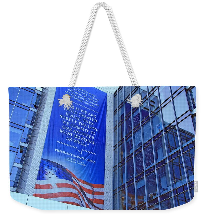 Human Rights Campaign Weekender Tote Bag featuring the photograph For If We Are Truly Created Equal by Cora Wandel