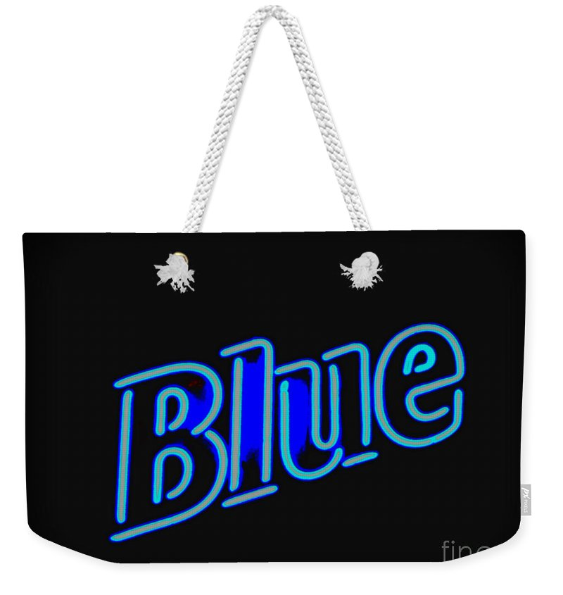 Weekender Tote Bag featuring the photograph For You Madame Blue by Kelly Awad