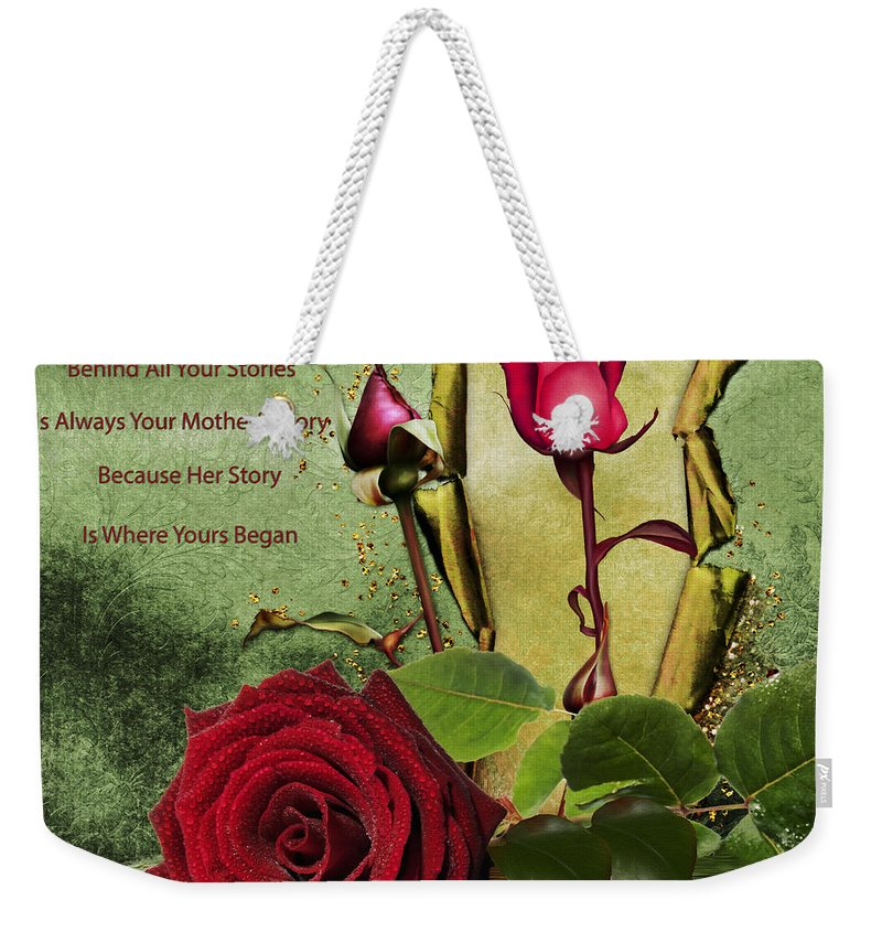 Rose Weekender Tote Bag featuring the photograph For The Beauty Of Her by Georgiana Romanovna
