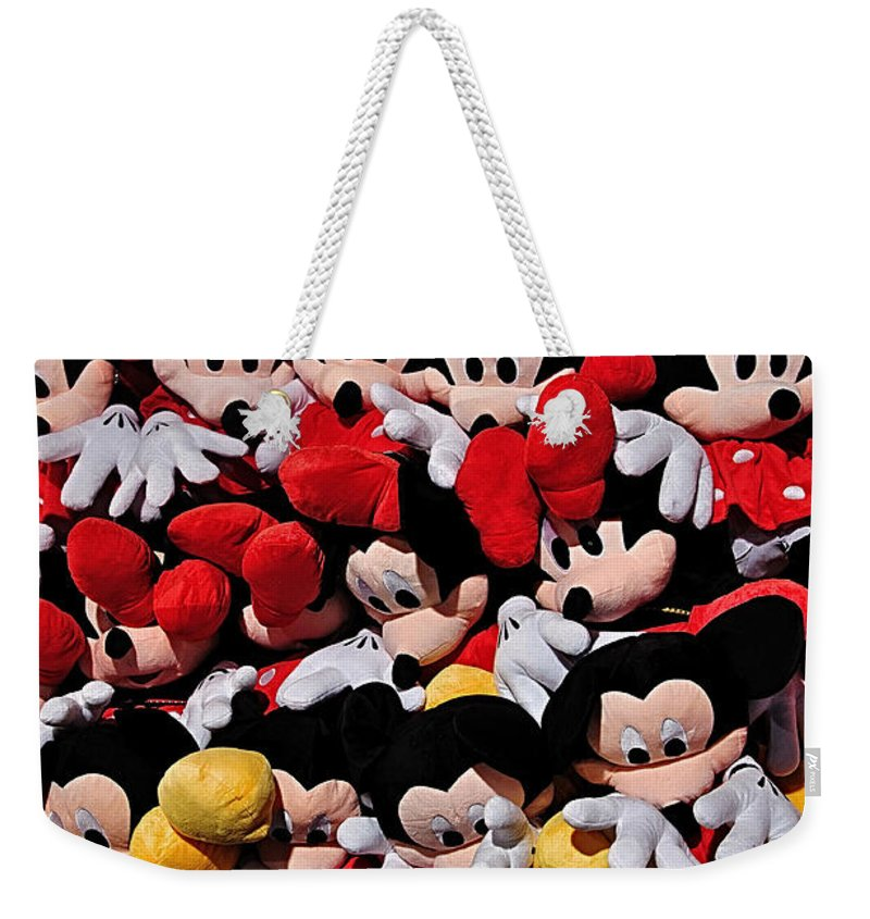 Photography Weekender Tote Bag featuring the photograph For The Mickey Mouse Lovers by Kaye Menner