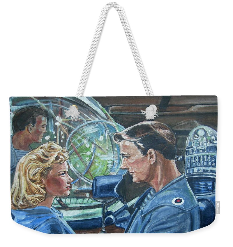 Forbidden Planet Weekender Tote Bag featuring the painting Forbidden Planet by Bryan Bustard