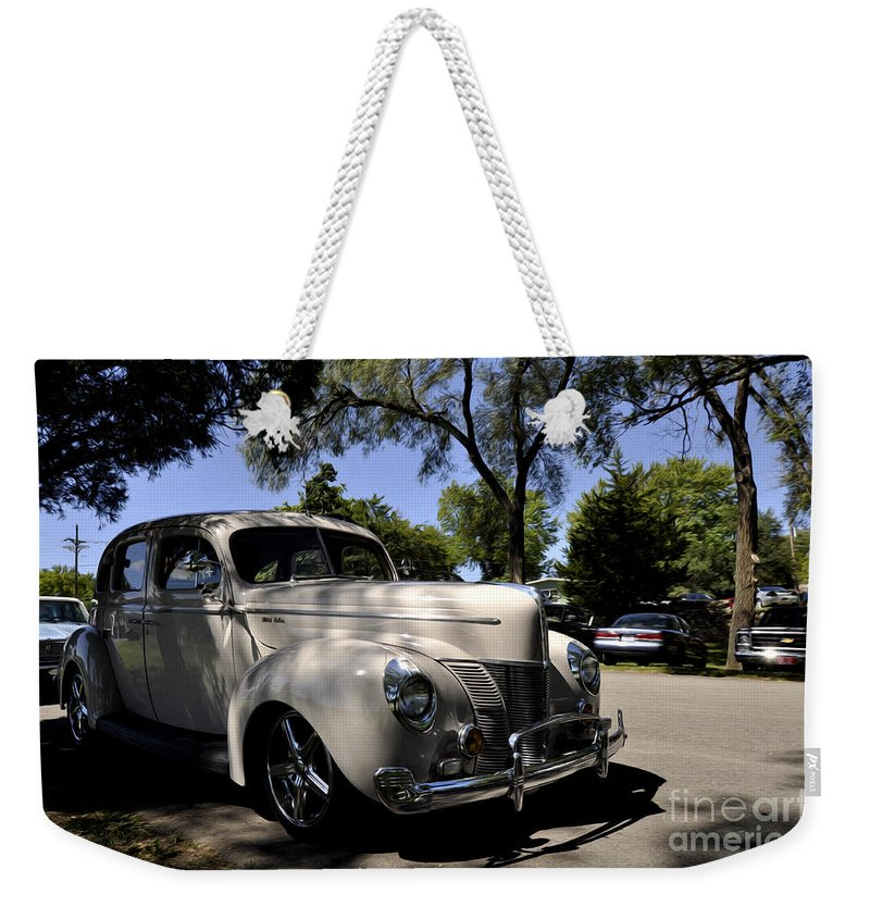 Ford Deluxe Weekender Tote Bag featuring the photograph Ford Deluxe by Liane Wright