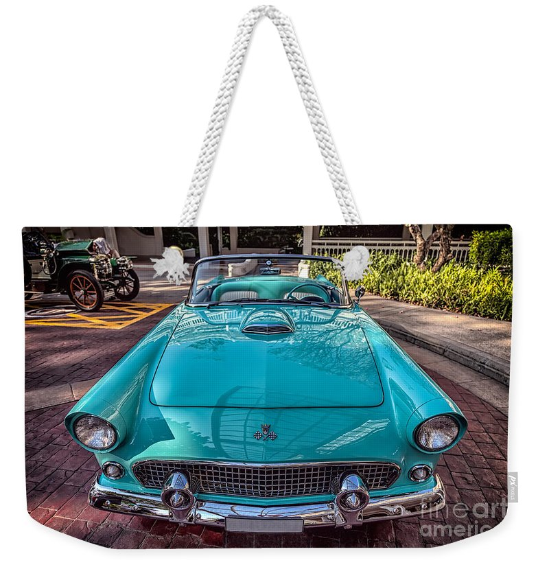 Ford Weekender Tote Bag featuring the photograph Ford Thunderbird by Adrian Evans