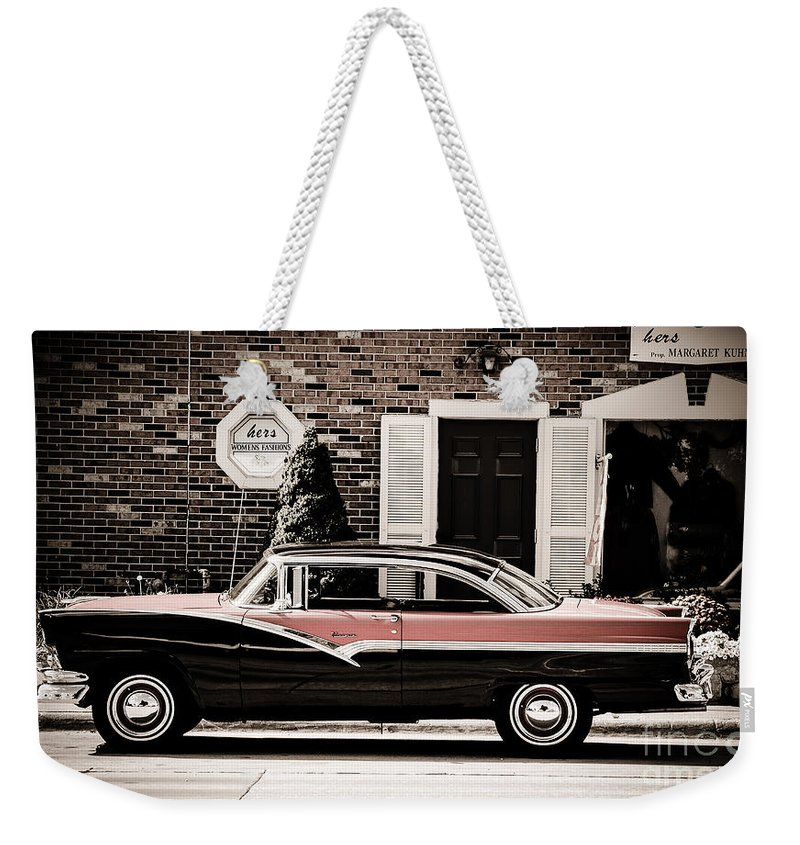 Ford Weekender Tote Bag featuring the photograph Ford Ventura 2 by Grace Grogan