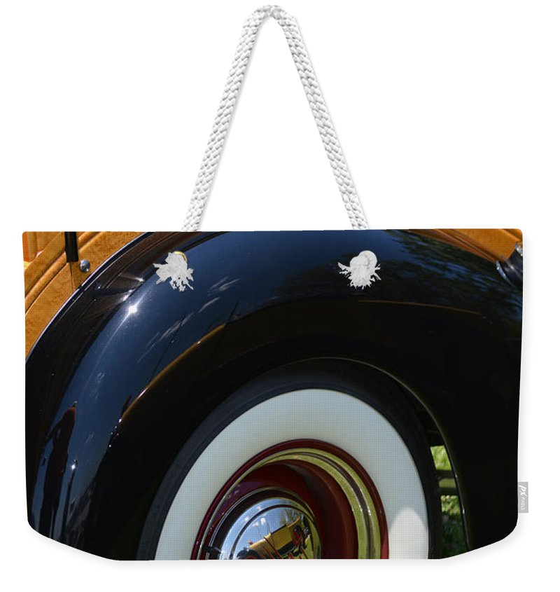 Ford Weekender Tote Bag featuring the photograph Ford Wagon by Gale Cochran-Smith