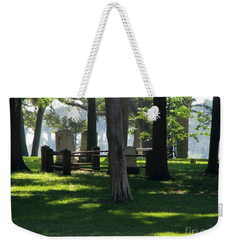 Patzer Weekender Tote Bag featuring the photograph Fore Fathers by Greg Patzer