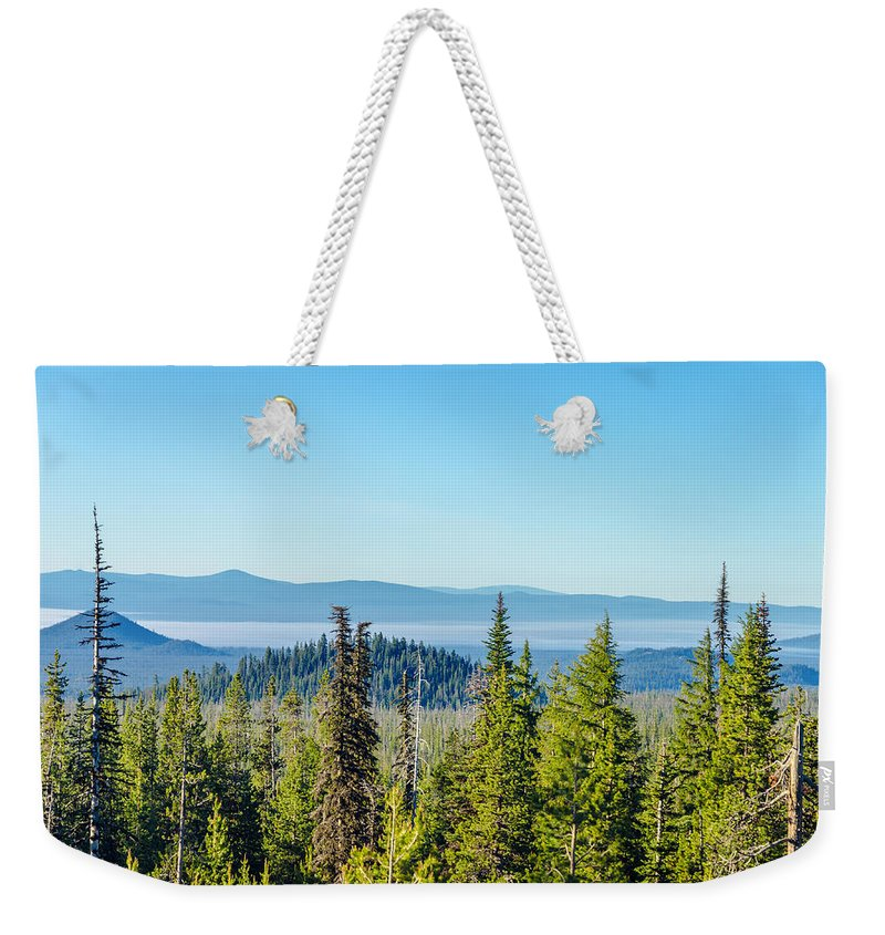 Forest Weekender Tote Bag featuring the photograph Forest Landscape by Jess Kraft