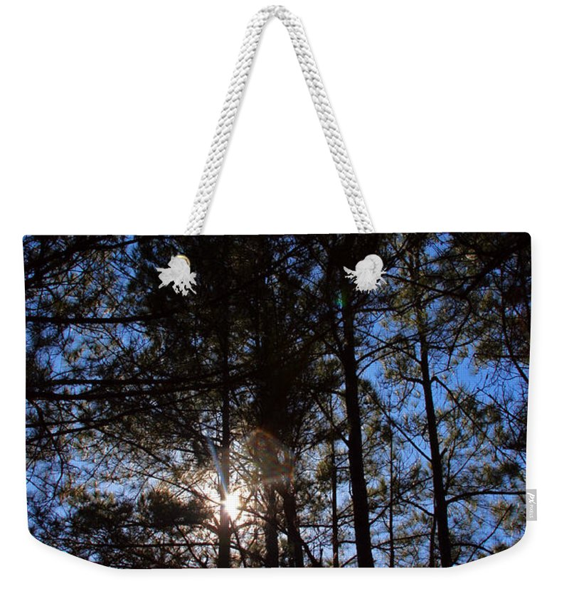 South Carolina Weekender Tote Bag featuring the photograph Forest Sunset by Carolyn Stagger Cokley