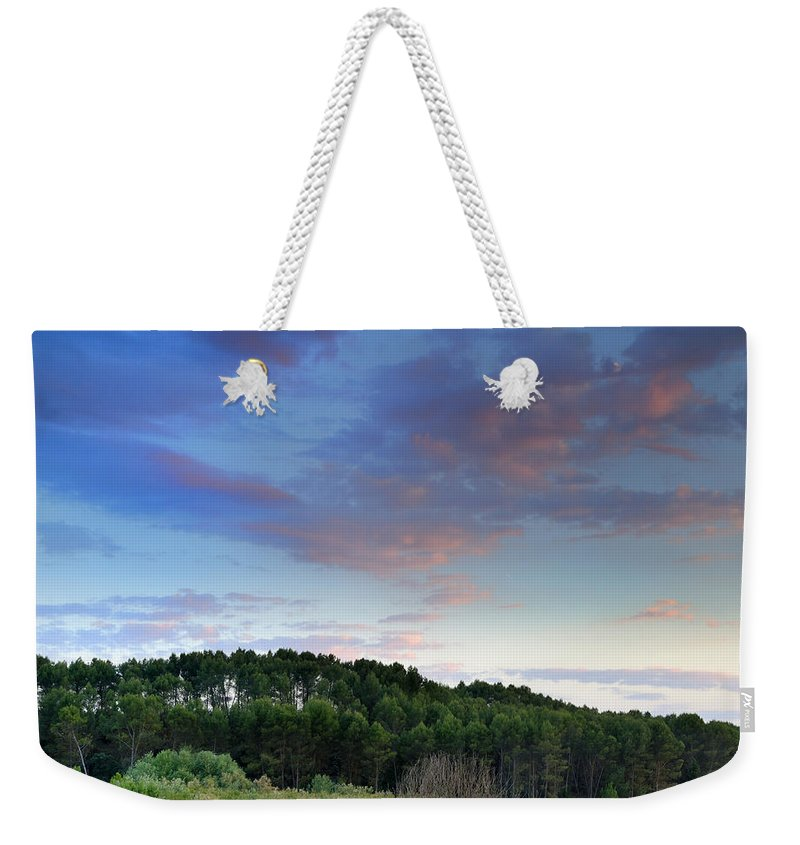 Sunset Weekender Tote Bag featuring the photograph Forests by Guido Montanes Castillo