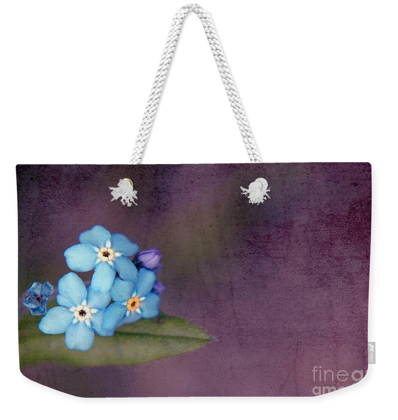 Flowers Weekender Tote Bag featuring the photograph Forget Me Not 02 - S0304bt02b by Variance Collections