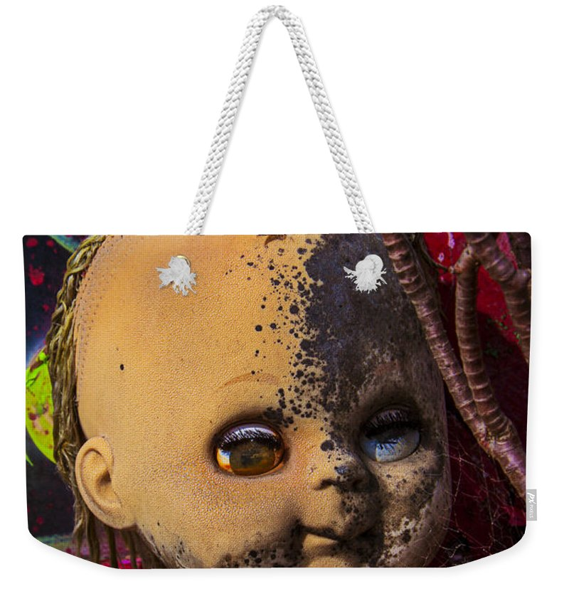 Forgotten Weekender Tote Bag featuring the photograph Forgotten Baby Doll by Garry Gay