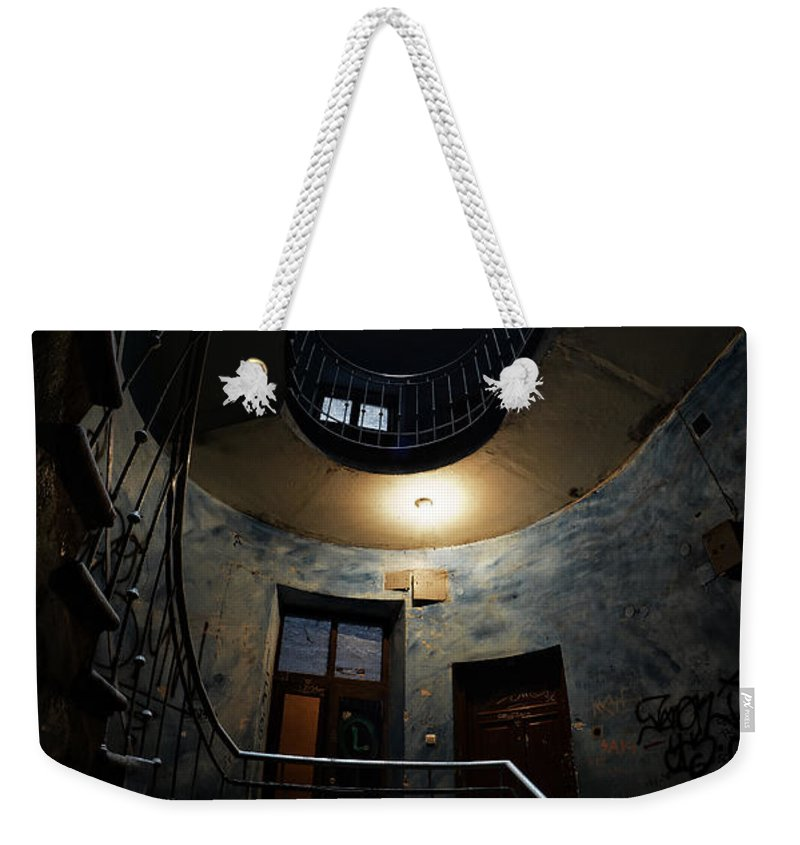 Staircase Weekender Tote Bag featuring the photograph Forgotten Beauty by Jaroslaw Blaminsky