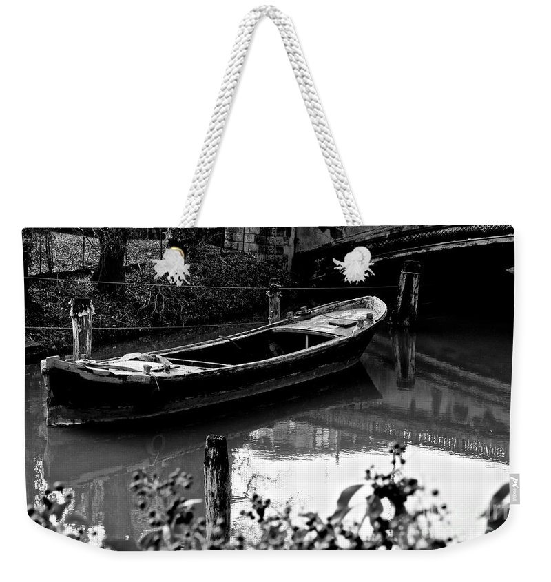 Boat Weekender Tote Bag featuring the photograph Forgotten by Donato Iannuzzi