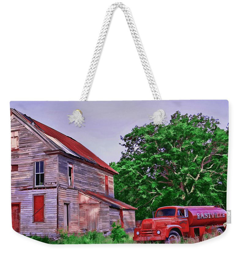 Landscape Weekender Tote Bag featuring the photograph Forgotten by Marcia Colelli