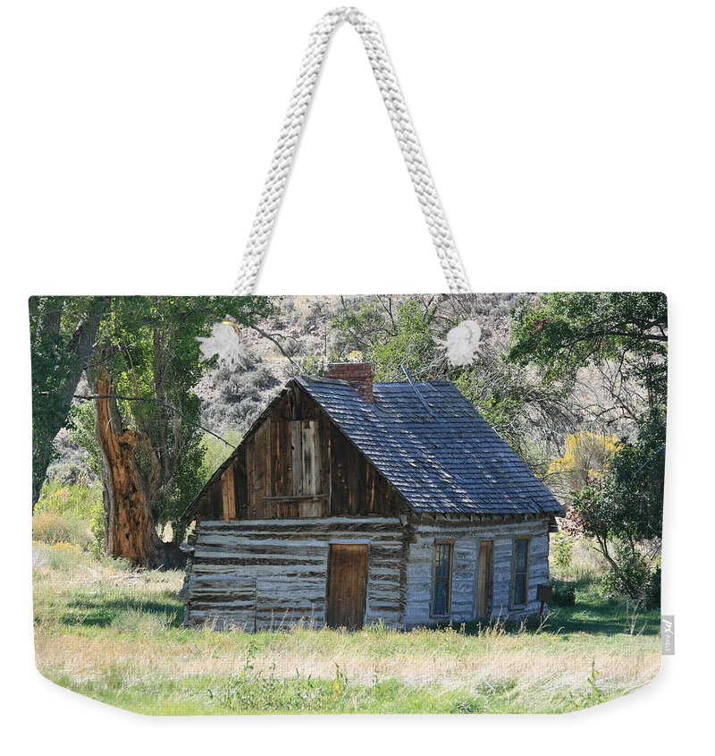 Cabin Weekender Tote Bag featuring the photograph Forgotten by Marty Fancy