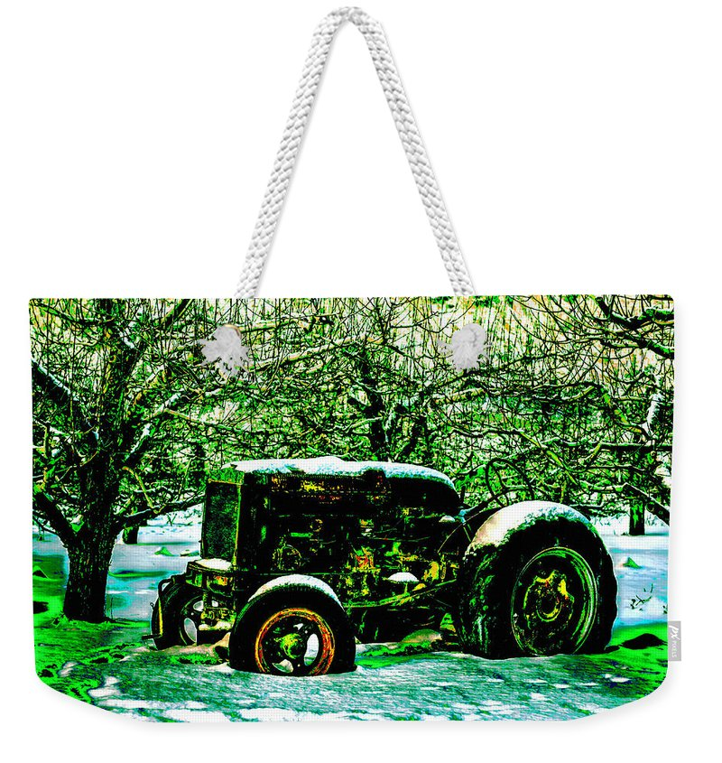 Car Weekender Tote Bag featuring the photograph Forgotten by Lyriel Lyra