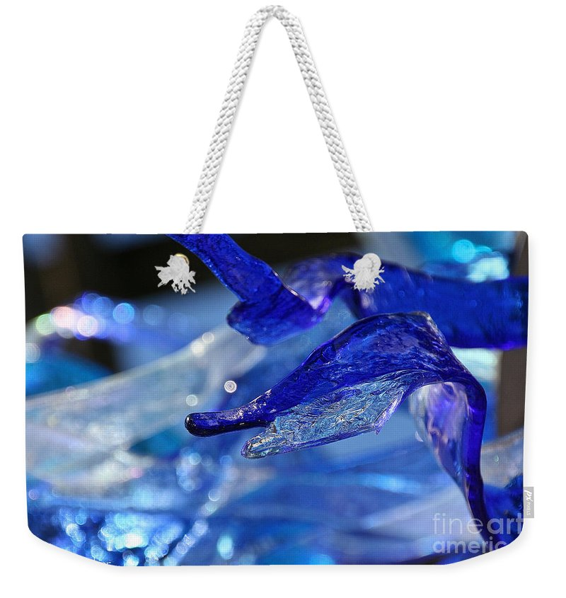 Glass Weekender Tote Bag featuring the photograph Forked Tongue by Susan Herber
